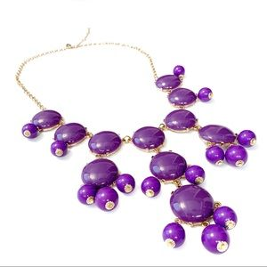 Ily Couture Purple Two Tone Bauble Necklace